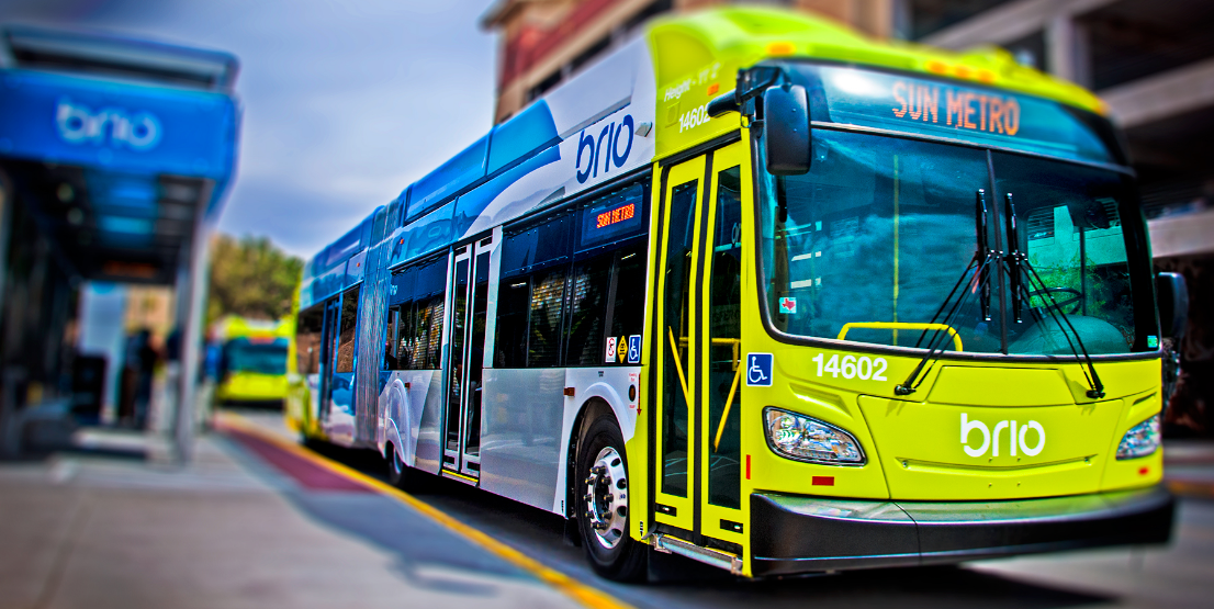 Introducing bus rapid transit was one of the first major steps toward implementing the ambitious Plan El Paso. Courtesy Sun Metro.